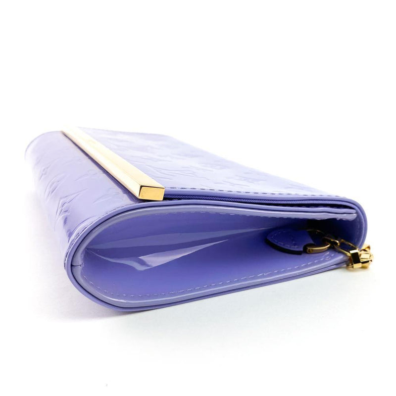 Louis Vuitton Monogram Vernis Ana Clutch Bag Lilac