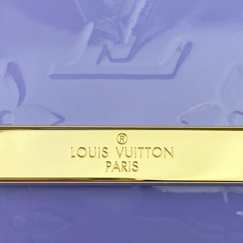 Louis Vuitton Monogram Vernis Ana Clutch Bag LV Plaque