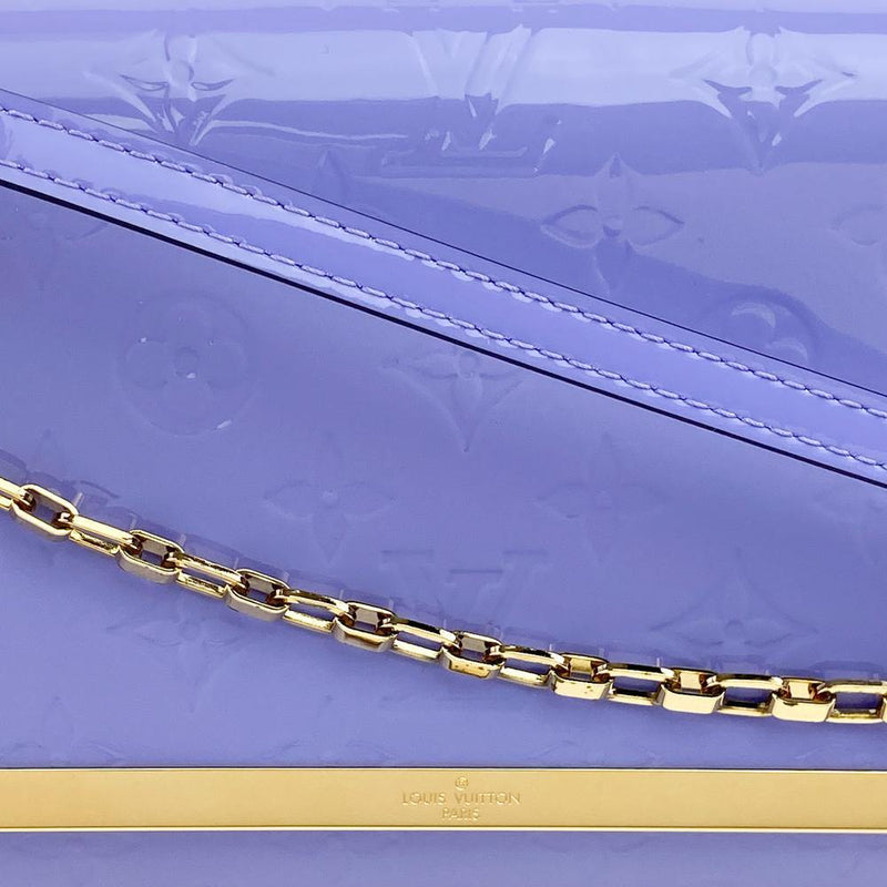 Louis Vuitton Monogram Vernis Ana Clutch Bag Chain Detail