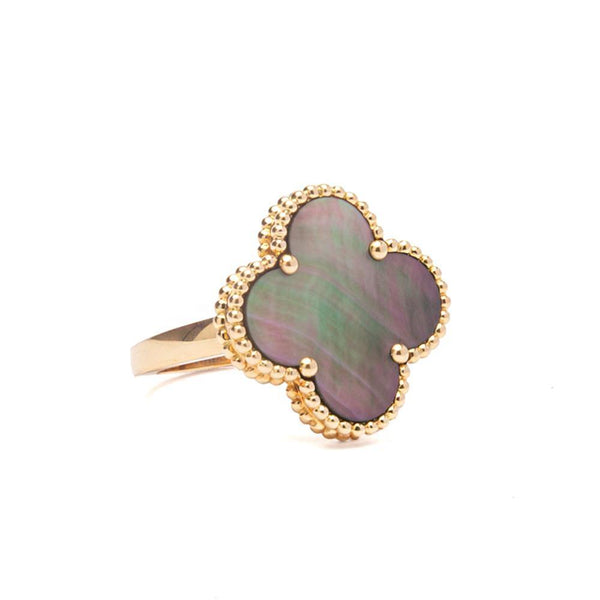 Van Cleef & Arpels Magic Alhambra Ring Grey Mother of Pearl Side View