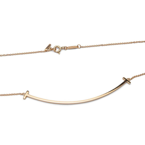 Tiffany & Co T Smile Rose Gold Necklace
