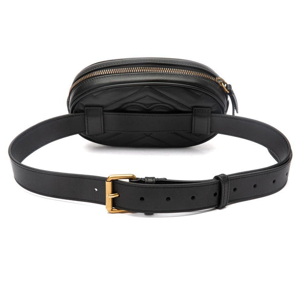 Gucci GG Marmont Black Belt Bag Back View