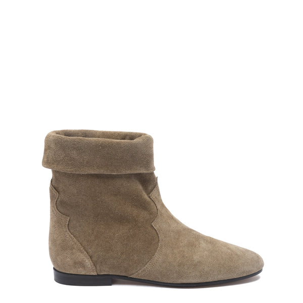 Isabel Marant Beige Suede Ringal Ankle Boots