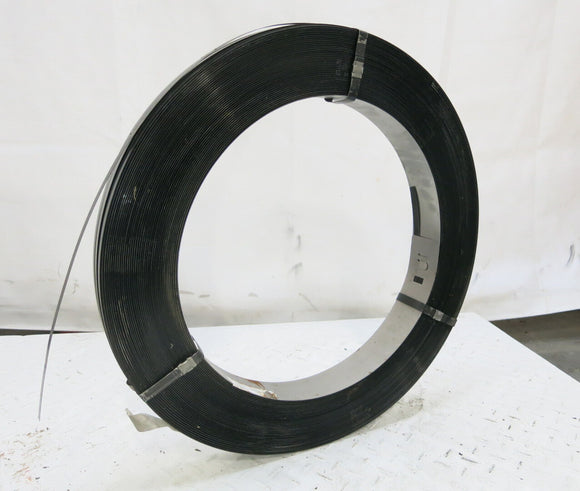 HEAVY DUTY Black Steel Strapping Roll