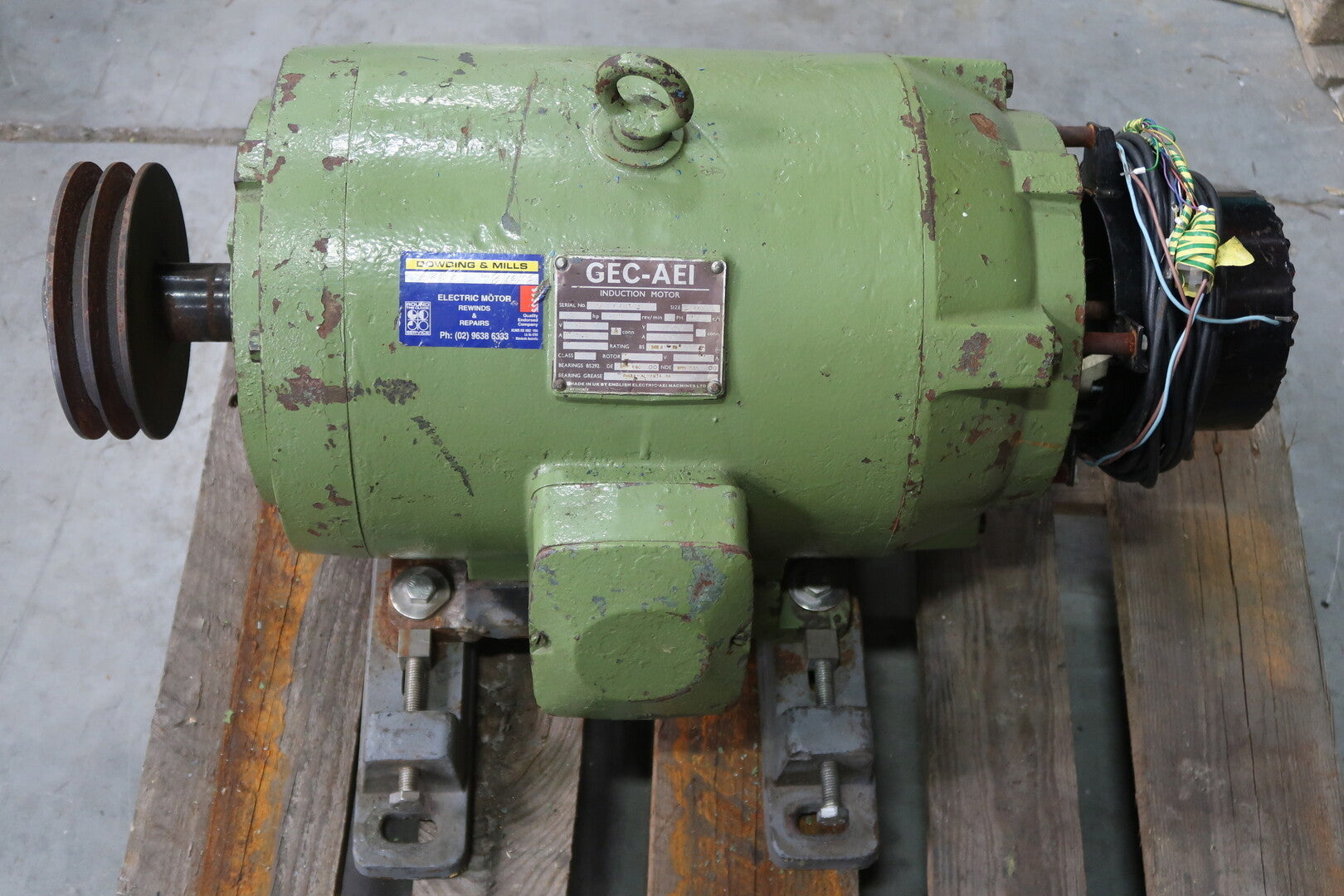 GEC-AEI 25 Hp Induction Electric Motor