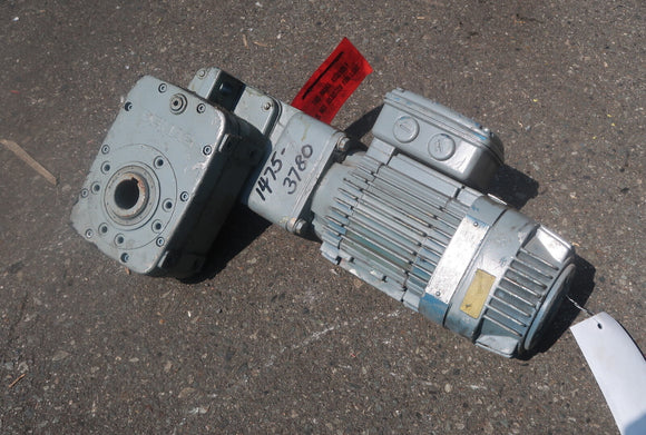 DEMAG 0.88hp Motor W/ Gear Reducer