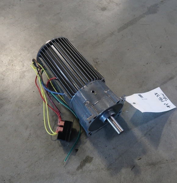 BALDOR 0.9//0.11 Hp Industrial Electric Motor With 5:1 Gear Reducer