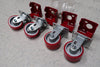 "OCFAB 6"" Caster Wheels Set (2 Rigid + 2 Swivel)"