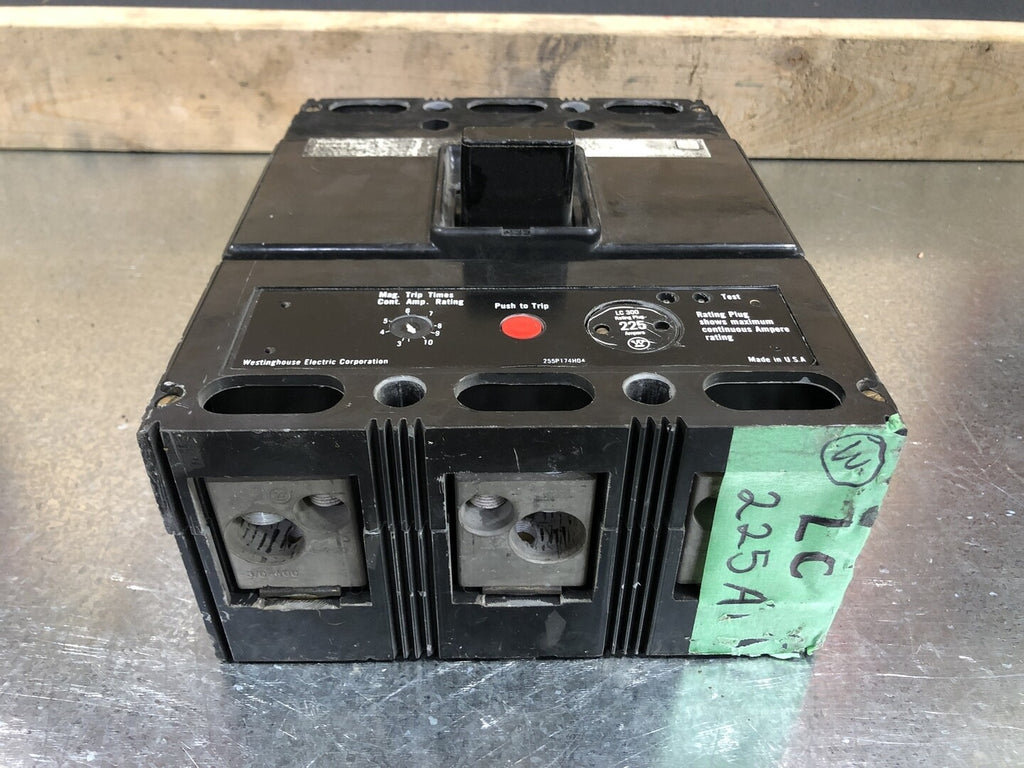 WESTINGHOUSE 225 Amp Circuit Breaker No. LC300F