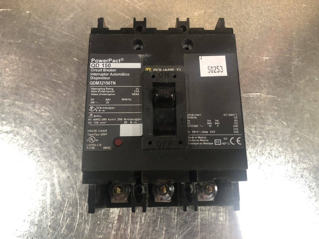 150 Amp Circuit Breaker No. QDM32150TN