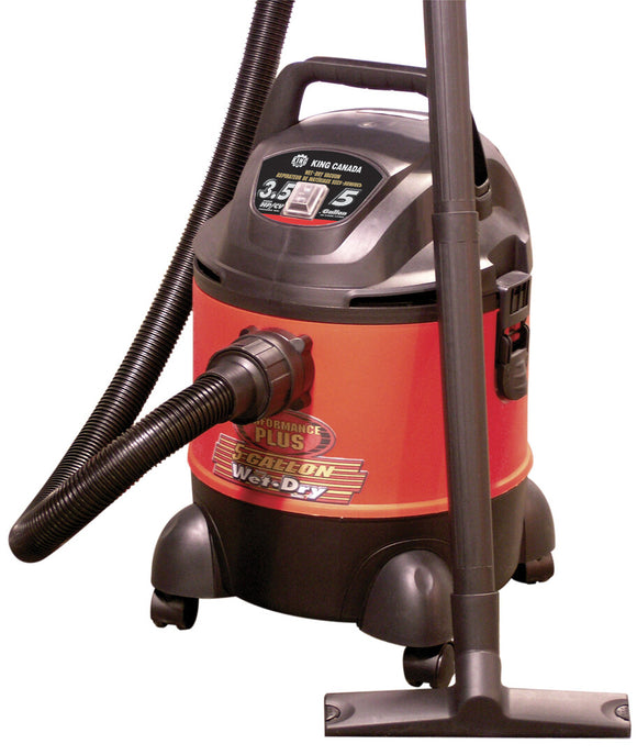 KING CANADA 5 Gallon Wet?Dry Vacuum