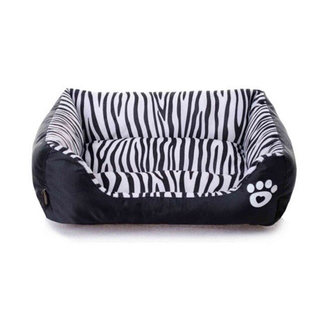 Waterproof Pet Bed Zebra Pattern