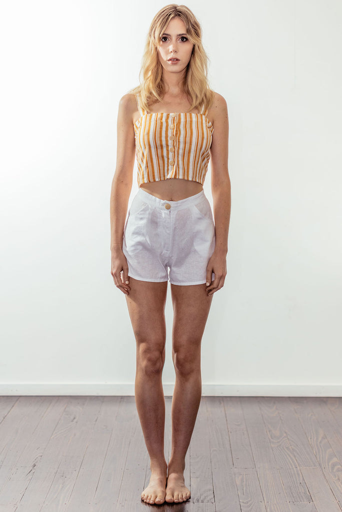 canyon button crop | californian gold