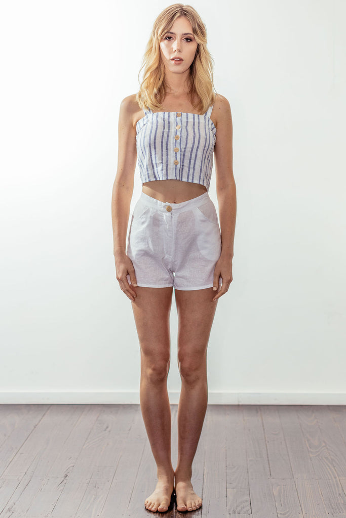 canyon button crop | malibu blue