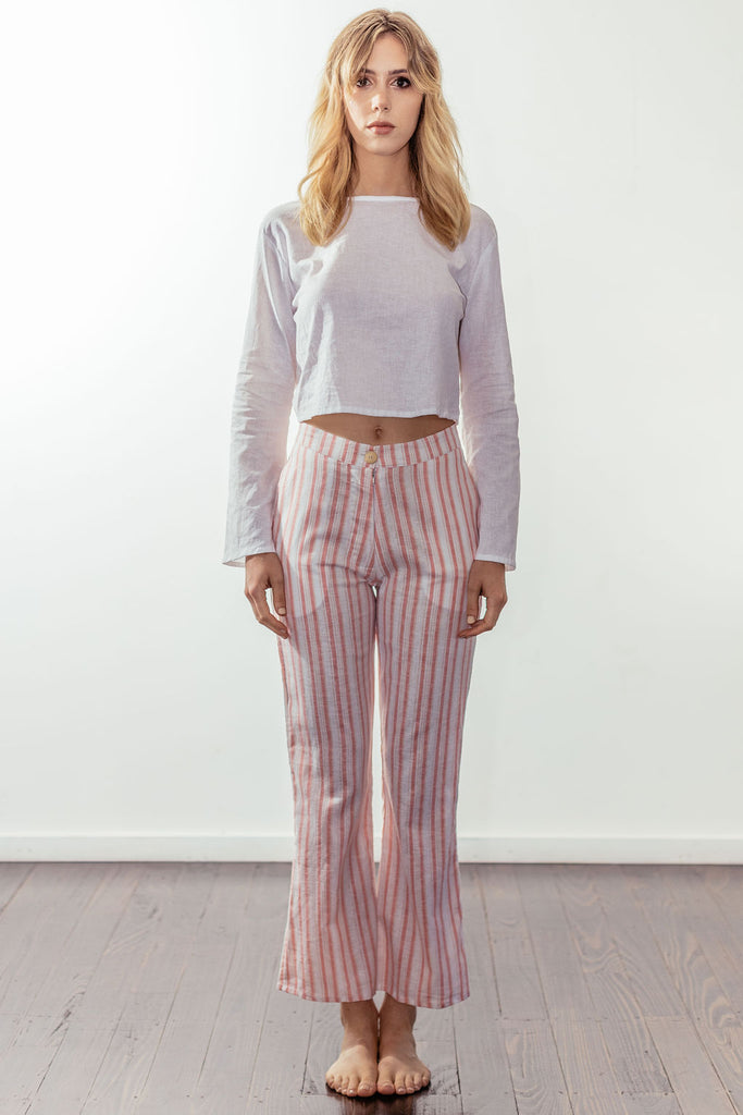 canyon classic high rise crop flare | sunset pink