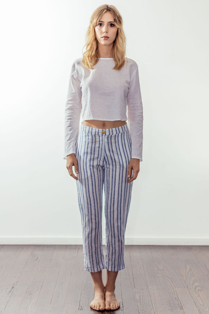 canyon classic high rise crop pant | malibu blue