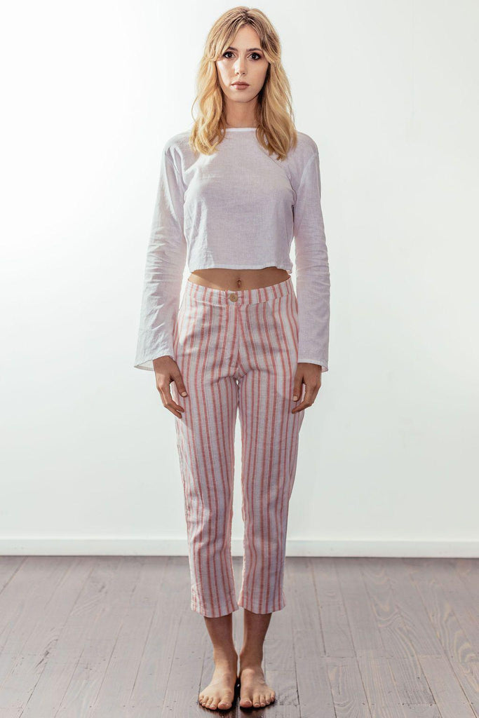 canyon classic high rise crop pant | sunset pink