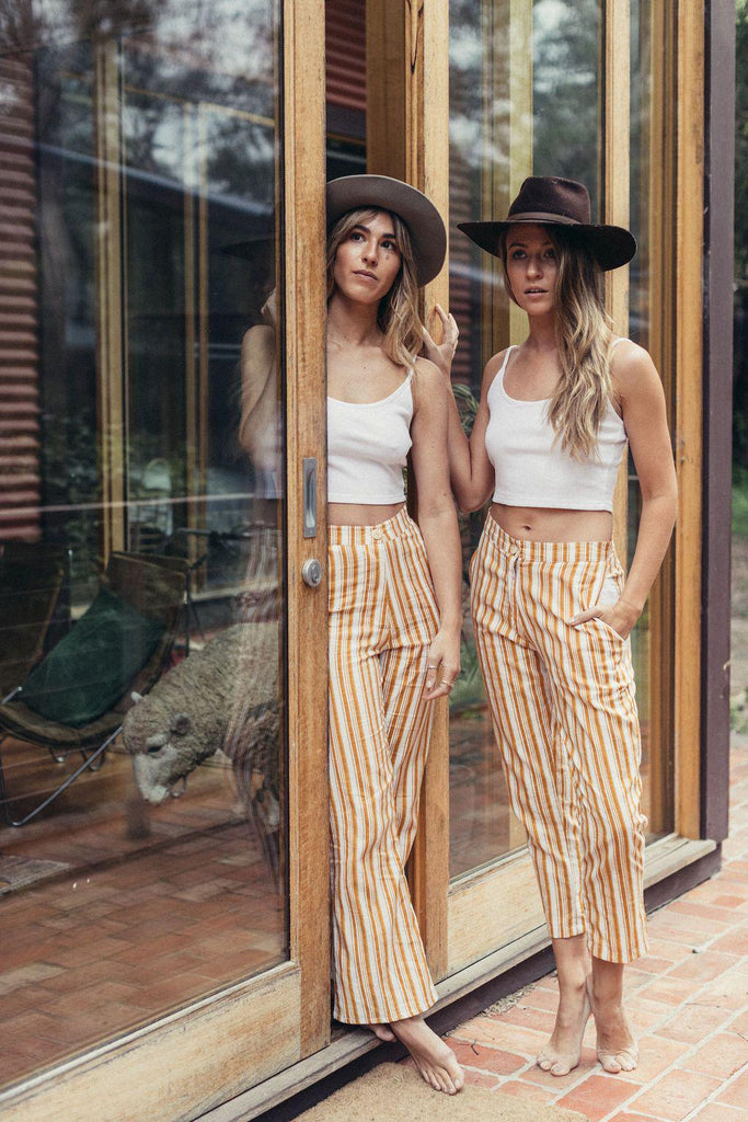 canyon classic high rise crop flare | californian gold