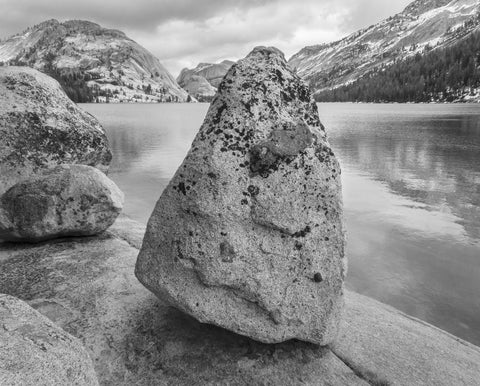 Rock, Lake and Clouds, Yosemite