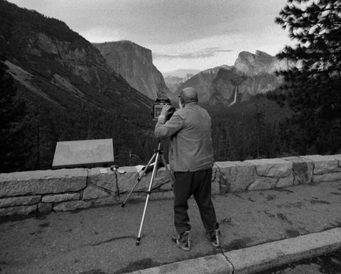 ANSEL ADAMS AT INSPIRATION POINT, YOSEMITE