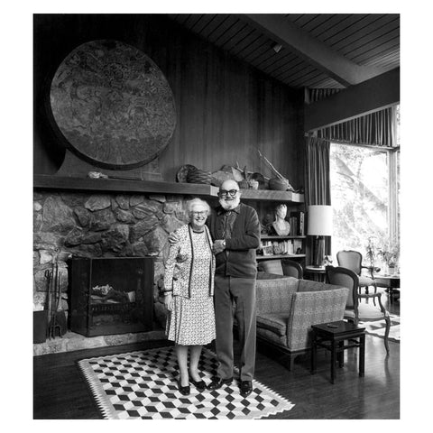 ANSEL AND VIRGINIA ADAMS AT HOME, CARMEL, CALIFORNIA