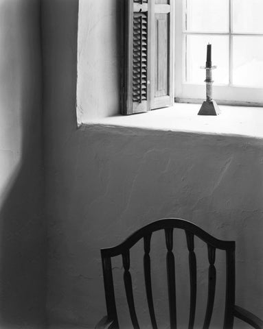 CHAIR AND WINDOW, RANDALL DAVEY HOUSE, SANTA FE, NEW MEXICO
