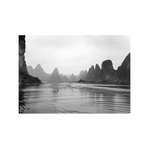 CHILDREN WADING, LI RIVER, CHINA
