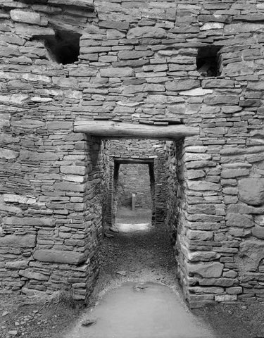 DOORWAYS TO ROOM 12, CHACO CANYON, NEW MEXICO
