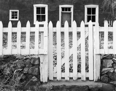 GATE AND WINDOWS, GALISTEO, NEW MEXICO