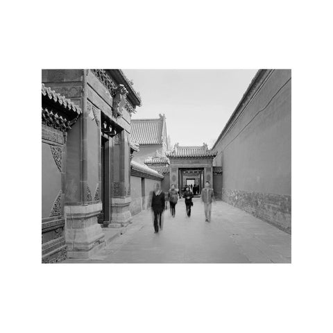 PEOPLE WALKING, FORBIDDEN CITY, BEIJING, CHINA