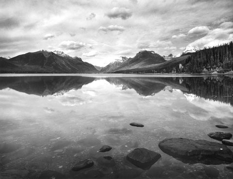 REFLECTIONS, LAKE MCDONALD, GLACIER NATIONAL PARK, MONTANA