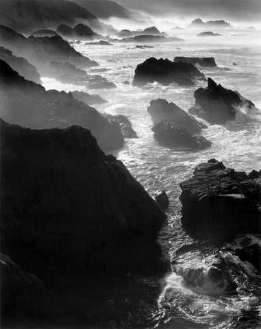 ROCKS AND MIST, OTTER COVE, BIG SUR, CALIFORNIA