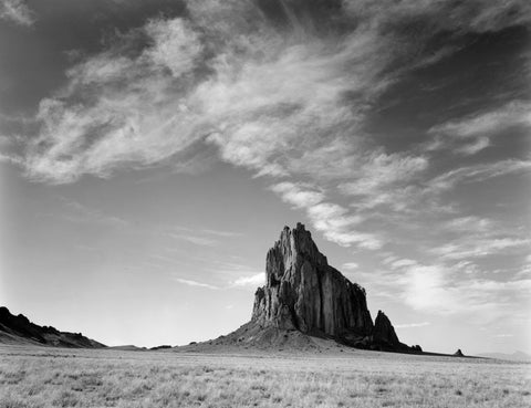 SHIPROCK, CLOUDS, NEW MEXICO