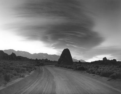 TRIANGLE ROCK, EVENING CLOUDS, ALABAMA HILLS, CALIFORNIA