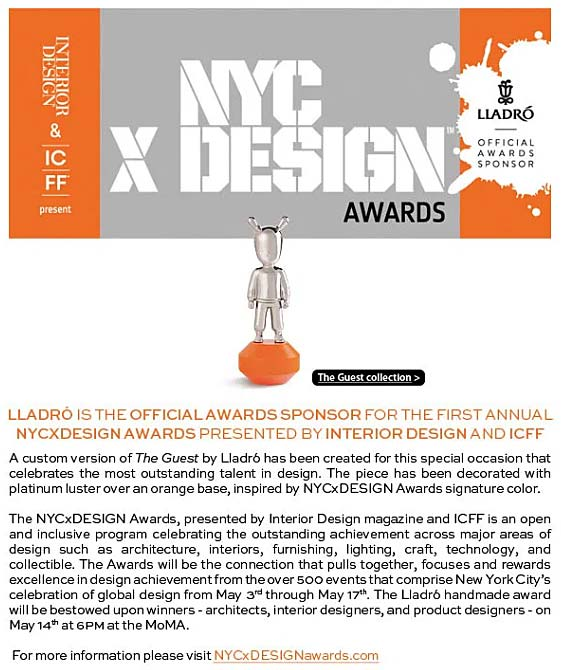 Lladro Is The Official Awards Sponsor For The First Annual NYC X DESIGN Awards