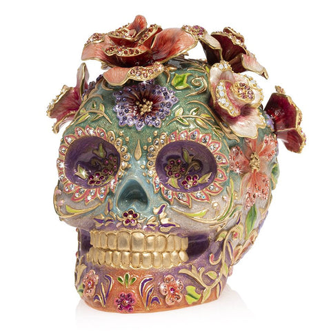 Jay Strongwater Catrina Skull With Roses Figurine SDH1925-256