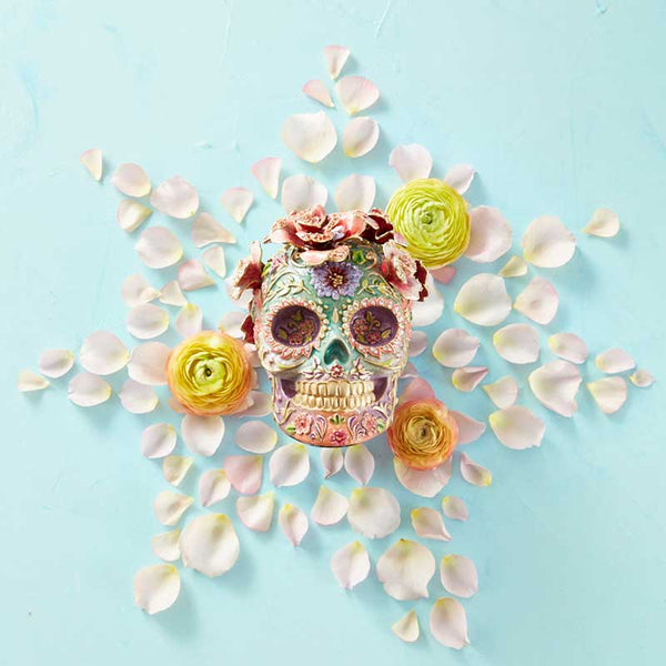 Jay Strongwater Catrine Skull With Roses