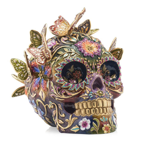 Jay Strongwater Frida Pave Skull with Butterflies Figurine SDH1909-289