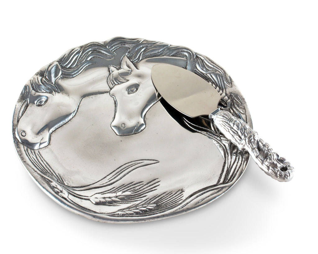 Arthur Court Horse Plate with Server 40696