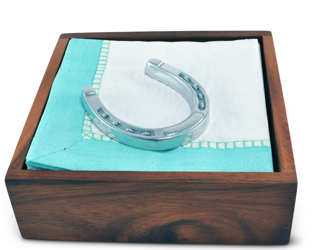 Arthur Court Horseshoe Napkin Weigh for Paper Napkin, Documents on a Desk, Dinner and Picnic Tables - Outdoor or Office Use,  Organization for Multiple Sizes - Durable Metal 3 Inch Long