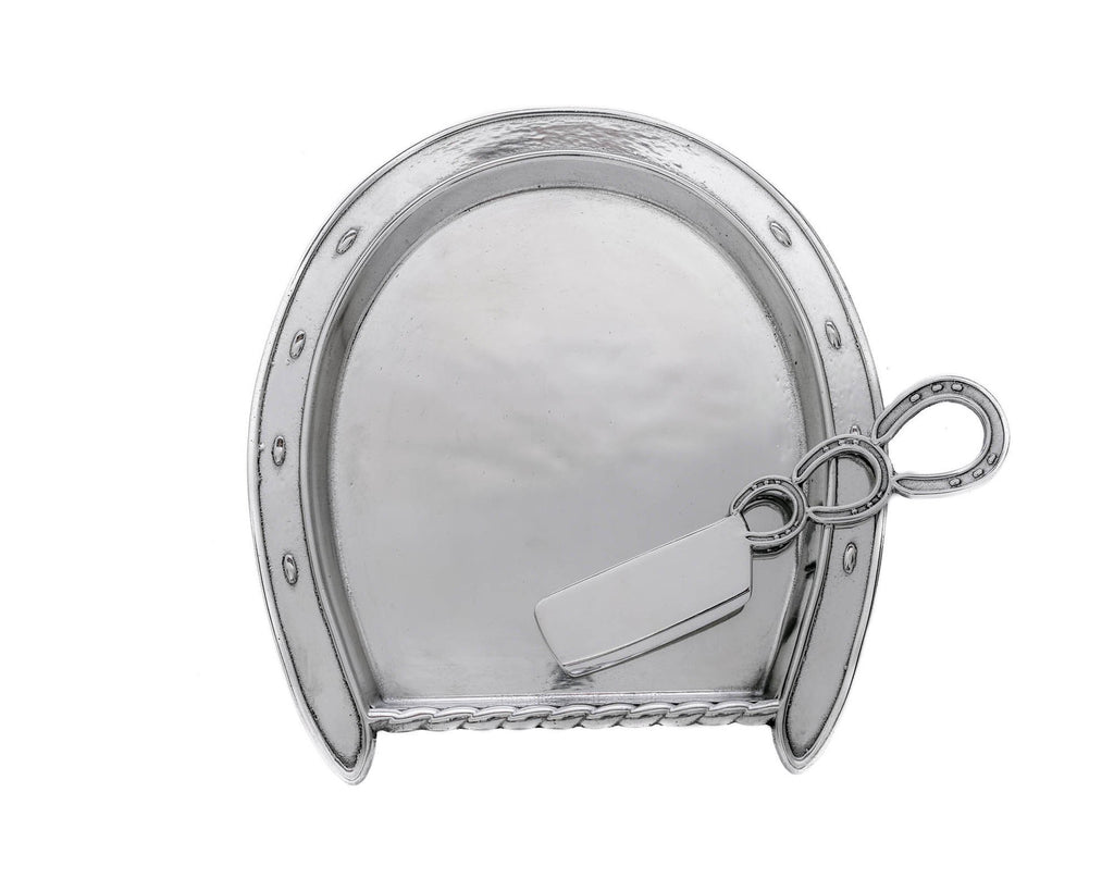 Arthur Court Horseshoe Plate with Server 41370