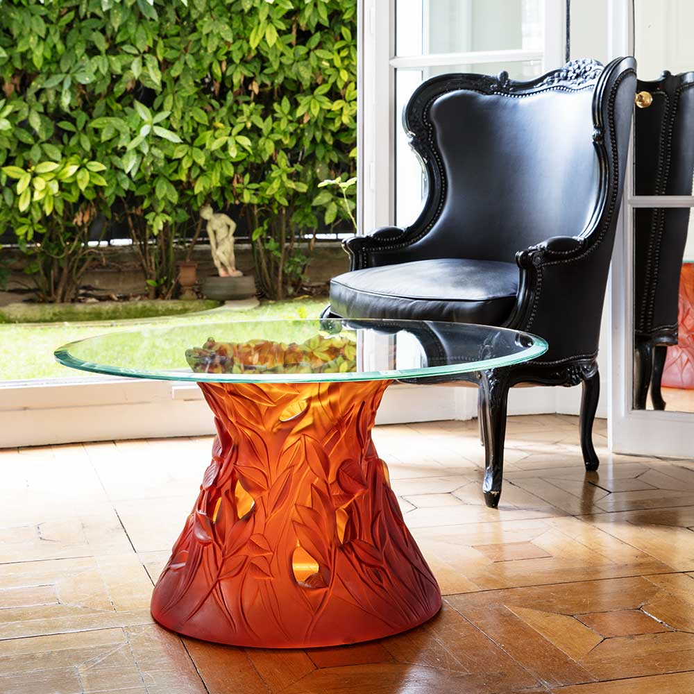 Daum Crystal Amber Coffee Table 05406