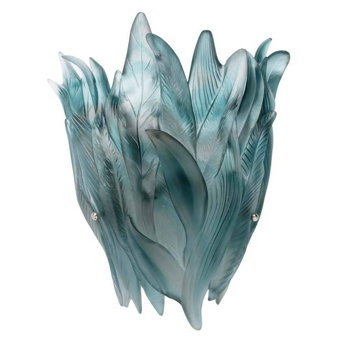 Daum Crystal Blue Grey Wall Lamp 05495-2
