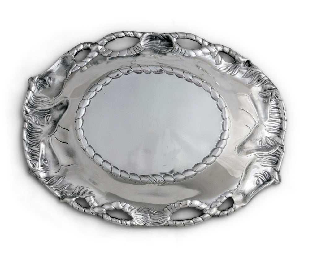 Arthur Court Horse Oval Tray 102452