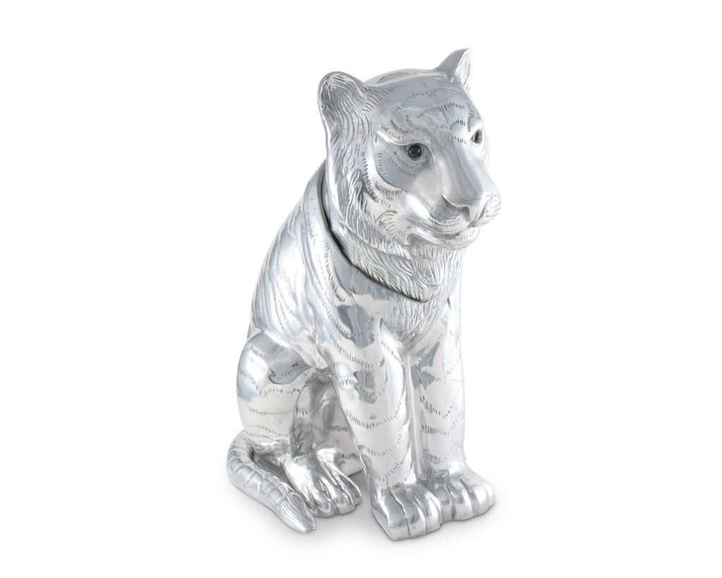 "Arthur Court Designs Aluminum Tiger Ice / Wine Bucket 14"" Long 17.5"" Tall"