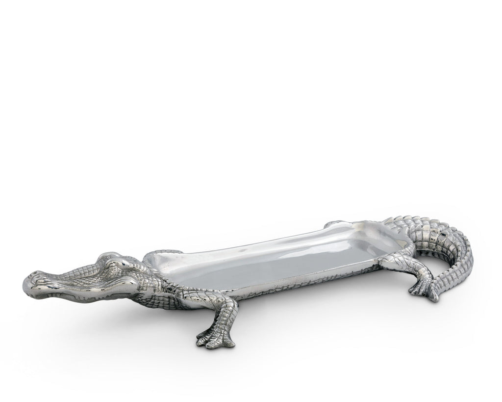 Arthur Court Alligator Tray Figural 103216