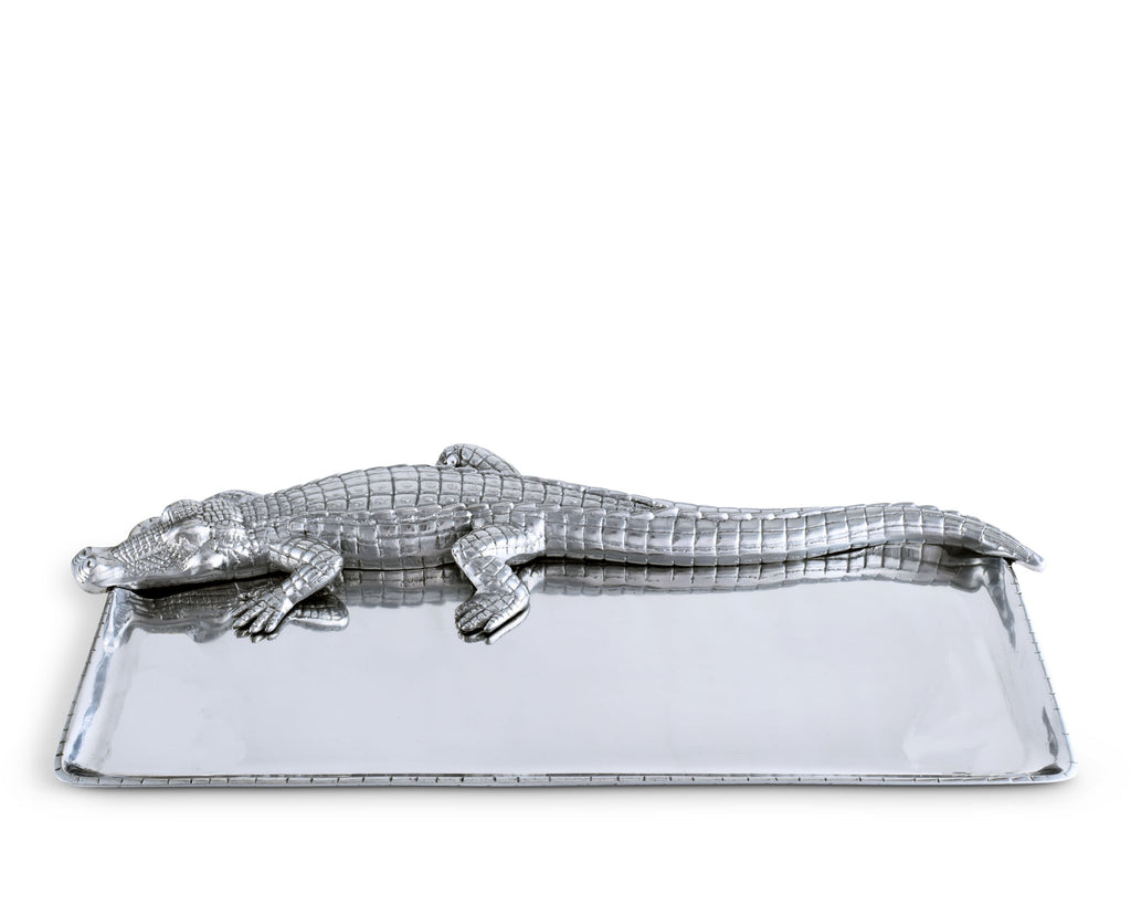 Arthur Court Alligator Tray 9x20 103696