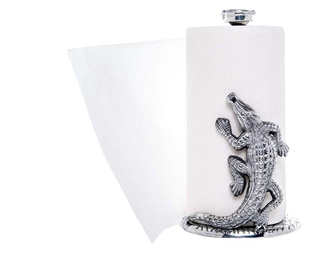 Arthur Court Alligator Paper Towel Holder 103906