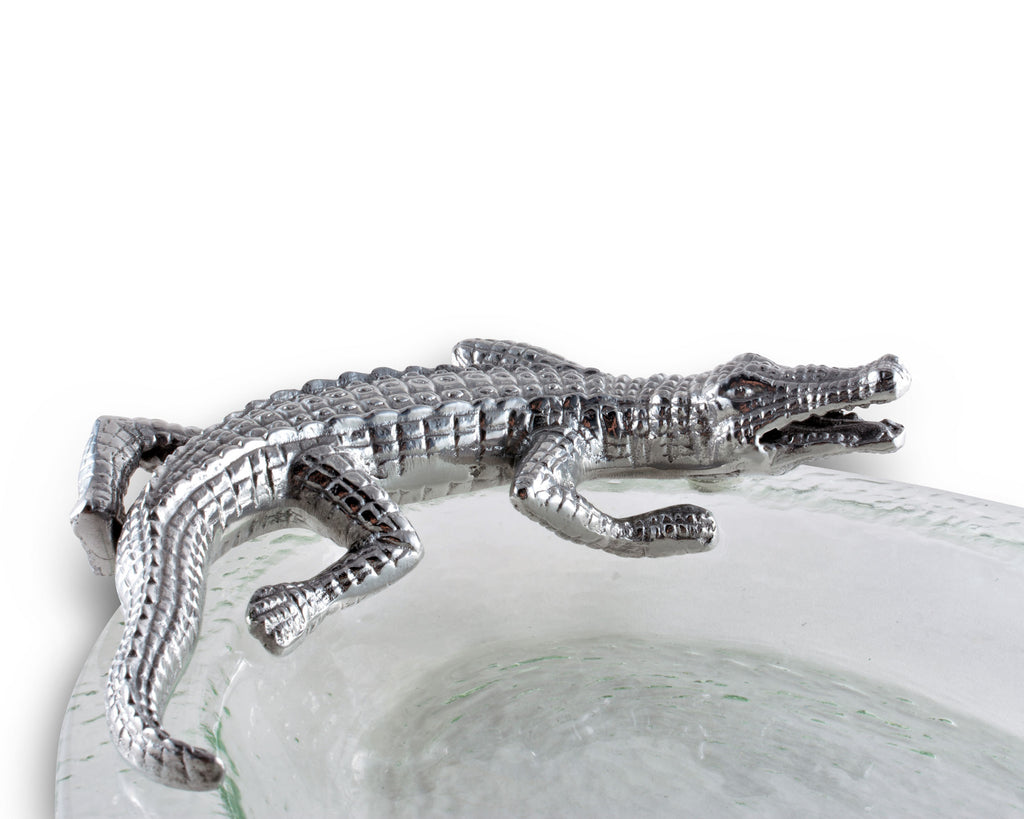 Arthur Court Alligator Glass Platter 103920