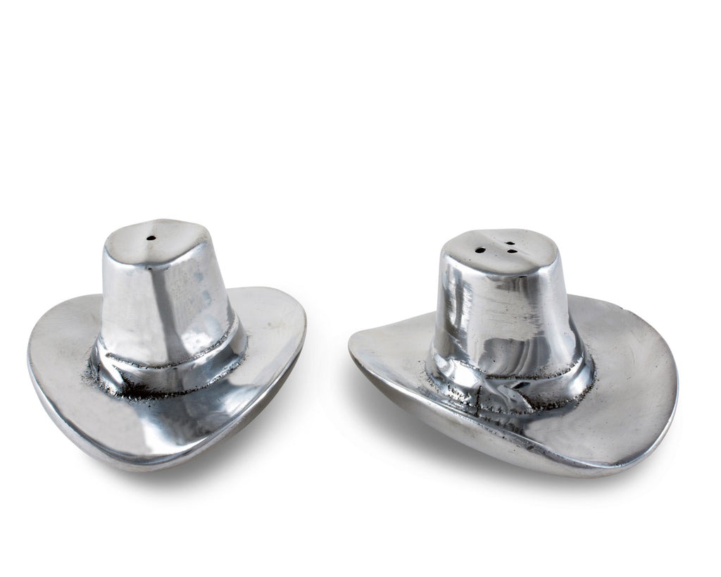 Arthur Court Cowboy Hat Salt and Pepper Set 103930
